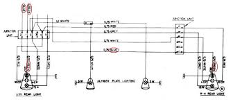 sw em amazon rear light fixture restoration excerpt from wiring diagram note taillight fixture wiring color codes for both sides are the same and only upstream of the incoming connector junction
