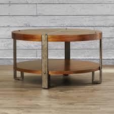 Round Table Coffee Loon Peak Gallatin Round Coffee Table Reviews Wayfair