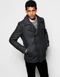 selected homme wool peacoat