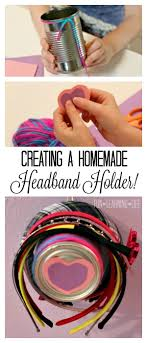 creating a homemade headband holder