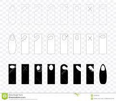 Free Door Hangers Templates Blank Door Hanger Templates Stock Vector Illustration Of