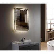 700 x 500mm Illuminated LED Bathroom Mirror with Demister Pad IP44