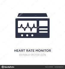 Icon Heart Rate Monitor Heart Rate Monitor Icon On White