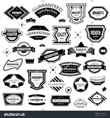 Vintage Design Vintage Design Elements Set Labels Retro Stock Vector