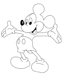 Mickey Mouse Coloring Page Birthday Mickey Mouse Coloring Pages