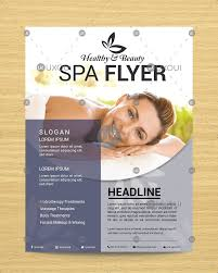 Modern Beauty Spa Flyer Template Design With Elegant Style Vector Uxoui