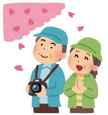 夫婦でお花見をしているイラスト | かわいいフリー素材集 いらすとや