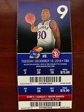 Ku Basketball Seating Chart Basketball Kansas Jayhawks Ncaa Tickets For Sale Ebay