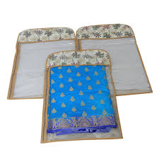 hanging sheet kuber industries hanging saree cover in transparent sheet with side