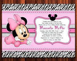Birthday Invitation Templates Free Download Baby Minnie Mouse Invitation Template Custom Mouse Baby Shower