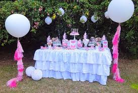 pink blue garden birthday party