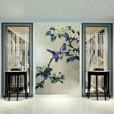 backsplash puzzle tiles hand made flower tile crystal glass mosaic tile wall murals tiles crystal patterns