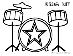 Music Instrument Coloring Page - GetColoringPages.com