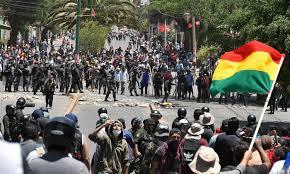 Resultado de imagen para bolivia protestas