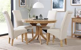 gallery hudson round oak extending dining table with 6 richmond