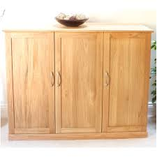 Mobel solid oak extra large shoe cupboard hallway hall storage furniture