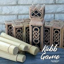 Lawn Game With Wooden Blocks Interesting Yard Game With Wooden Blocks Wood Yard Game Viking Chess Game