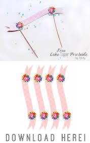 Free Cake Topper Printable
