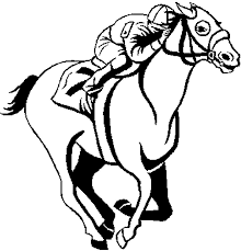 Small Picture Race Horse Coloring Pages Coloring Home