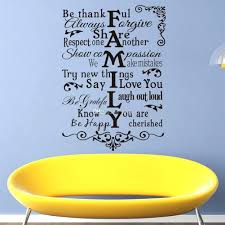 family  on wall art decals for living room with family wall art decals vinyl wall art stickers large family rules