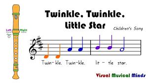 Twinkle Twinkle Little Star Recorder Finger Chart Vmm Recorder Song 7 Twinkle Twinkle Little Star Nursery
