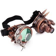 FLORATA Rivet <b>Goggles Men</b> Women Steampunk <b>Vintage</b> Round ...