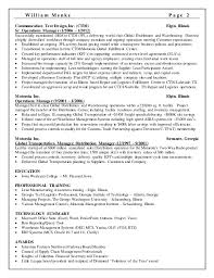 2 supply operation manager resume
