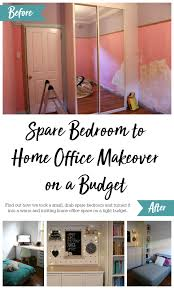 home office makeover. Spare Bedroom To Home Office Makeover On A Budget (Room Reveal With Before And After Photos!)