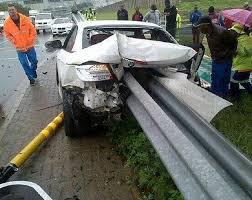 International footballer survives horrific car crash