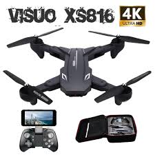 Visuo Xs816 Rc Drone With 50 Times Zoom Wifi Fpv 4k /720p Dual ...