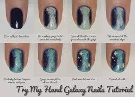 Nail Art Tutorial : Galaxy Nails · How To Paint Patterned Nail Art ...