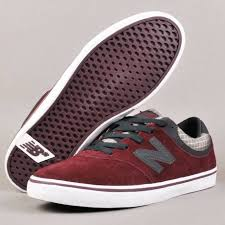new balance skate shoes. new balance numeric quincey 254 skate shoe - wine red/sky grey shoes