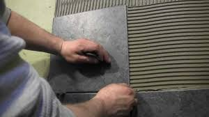 How To Tile A Shower Wall Cutting And Installing Wall Tile YouTube - Installing bathroom tile floor