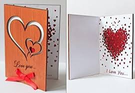 Personalize chic valentine's day photo cards to share this february 14. Amazon Com Real Wood Love You Hearts Unique Wedding Valentine S Day Greeting Card Happy Birthday Wooden Valentine Anniversary Gift Idea For Couple Him Men Husband Groom Boyfriend Dad Her Girl Wife Girlfriend