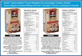 quaker hearty medleys instant multigrain hot cereal apple cranberry almond