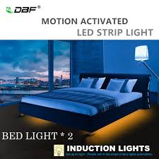 Double Bed Led Light Us 9 75 40 Off Dbf Single Double Bed Hand Wave Touch Dimmable Motion Activated Bed Light With Automatic Shut Off Timer For Baby Room Stairs In Night