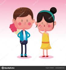 cute couple in love cartoons vector ilration graphic design vector by