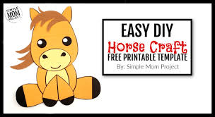 Free Craft Printables Templates Easy Printable Cut Out Horse Craft For Kids Simple Mom