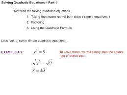 4 solving quadratic