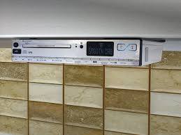 fm under cabinet radio for kitchen with cd player