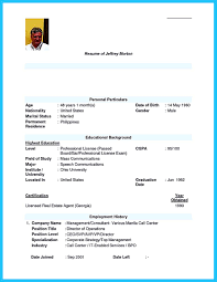 Sample Resume Format For Bpo Jobs Sample Resume For Bpo Jobs Best