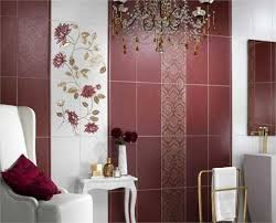 Small Picture Modern Wall Tiles in Red Colors Creating Stunning Bathroom Design