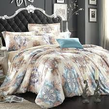 light blue bedding set light blue beige and brown bohemian style gypsy themed paisley park tribal print luxury full queen size bedding sets light blue bed