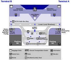 airport parking map  johnwayneairporttransportation