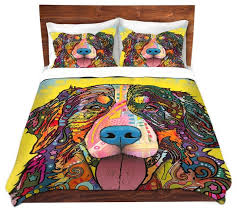 dianoche microfiber duvet covers by dean russo bernese mountain dog eclectic duvet covers