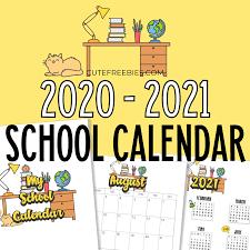 Binding your cute printable calendar 2021. School Calendar Printable For 2020 2021 Cute Freebies For You