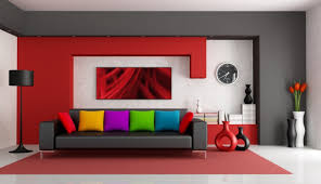 modern living room black and red. Fetching Pictures Of Living Room Decoration With Red Sofa : Handsome Modern Black And E