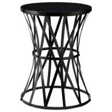 metal accent table. Accent Table Round Metal - Black E