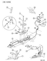 1995 chrysler lebaron controls gearshift floor shaft diagram 00000fk6