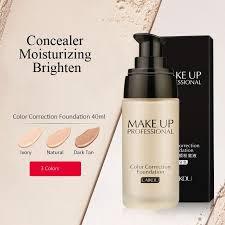 laikou professional color correction foundation moisturizer concealer waterproof liquid foundation 40 g corrective makeup base correction foundation